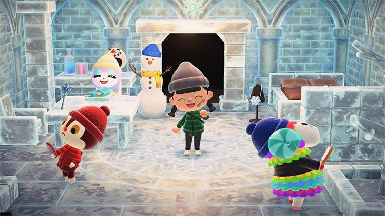 Frozen Igloo Ice House - ACNH Idea