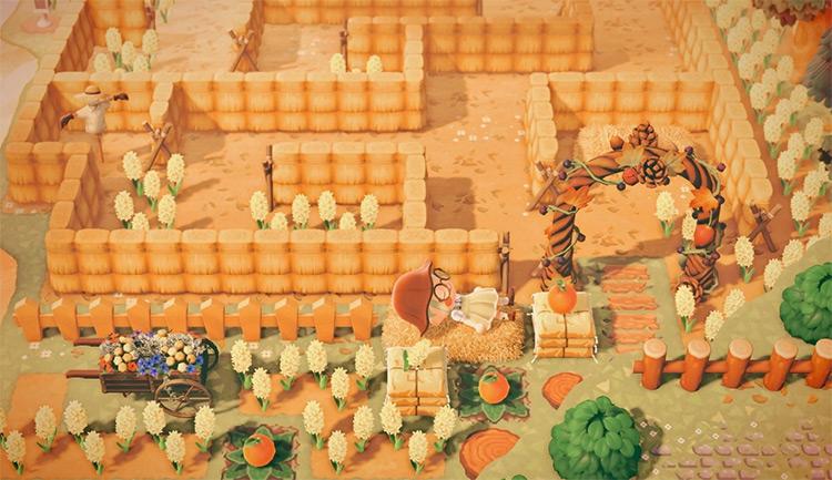 Corn Maze Design for Halloween - ACNH Idea
