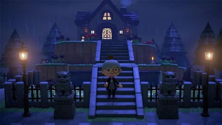 Haunted House on a Hill - ACNH Idea