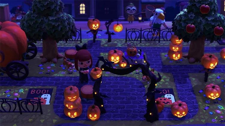 Spooky Halloween Island Entrance - ACNH Idea
