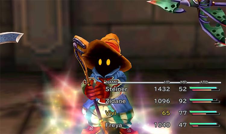 Vivi in-battle screenshot in FFIX