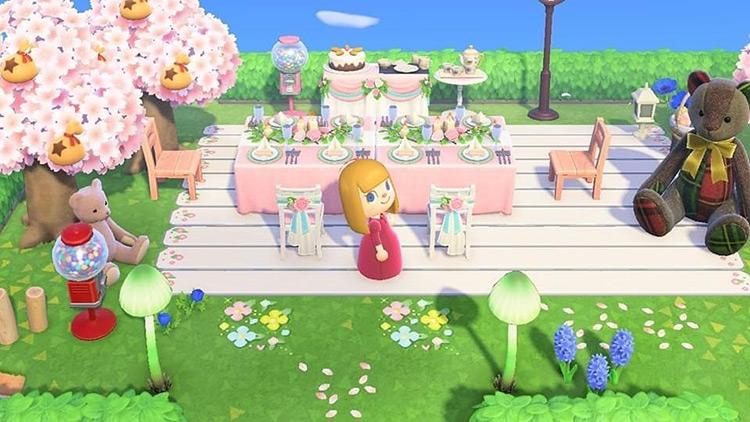 Outdoor Dinner Setup Area - ACNH