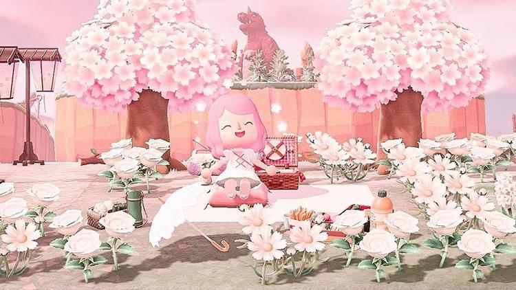 Cherry Blossom Picnic Spot - ACNH