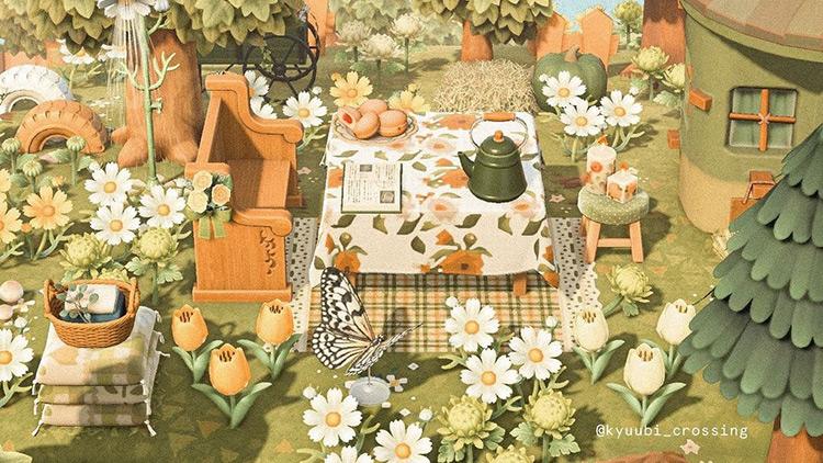 Springtime Tea Party Area - ACNH