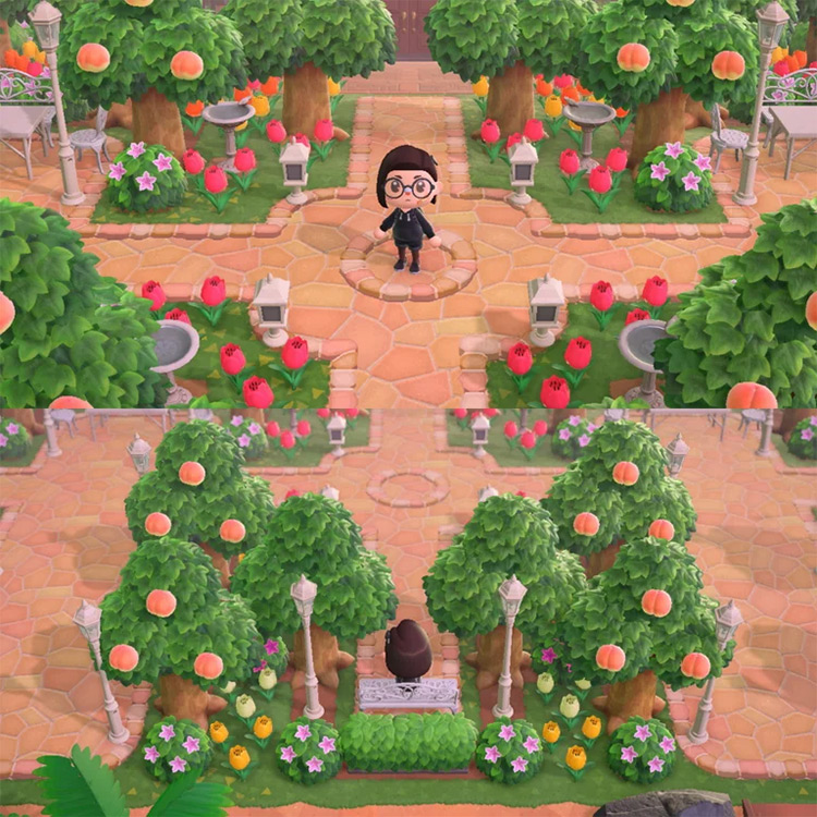 Blossom Entrance for Spring - ACNH Idea