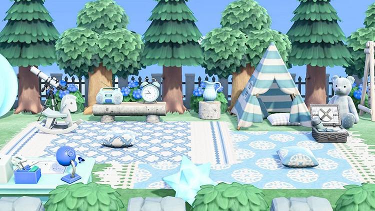 Blue Campsite in Springtime - ACNH