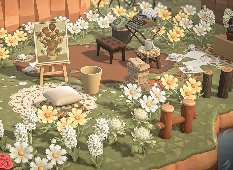 Garden Space in Springtime - ACNH Idea