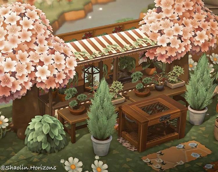 Little Spring Greenhouse ACNH Idea