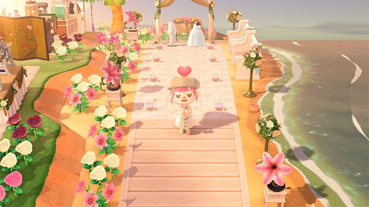 Wedding area on the beach - ACNH Idea