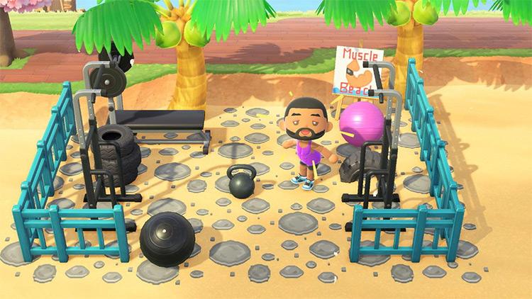 Exercise Gym on the beach - ACNH