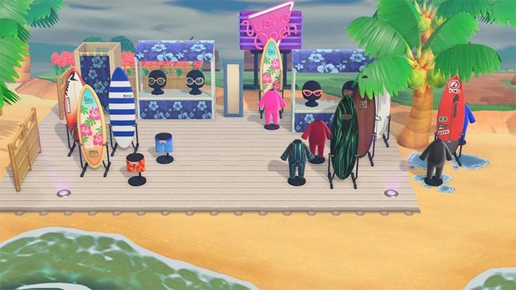 Basic surf shop on the beach - ACNH