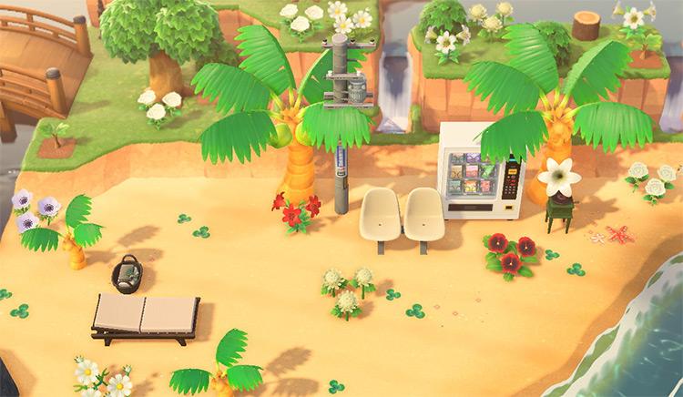 Simple tropical aesthetic - ACNH Beach Idea