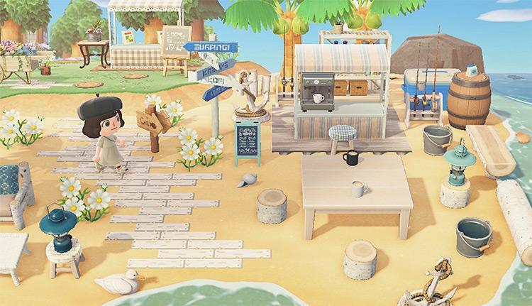 Custom Coffee Shop on Beach Sand - ACNH