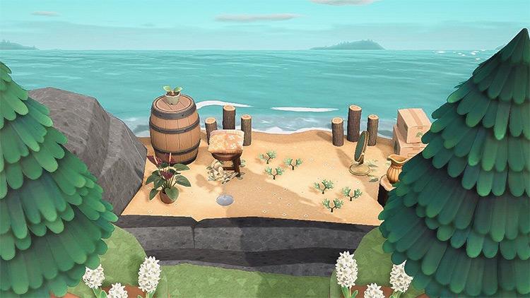Simple Hidden Beach Design for New Horizons