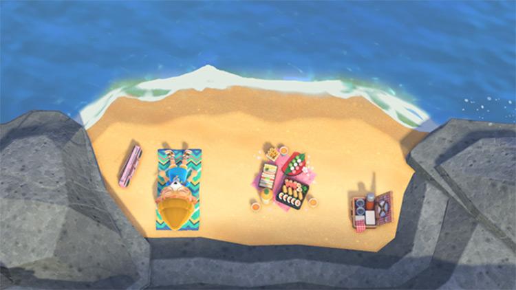 Secret Beach Sunbathing Area - ACNH