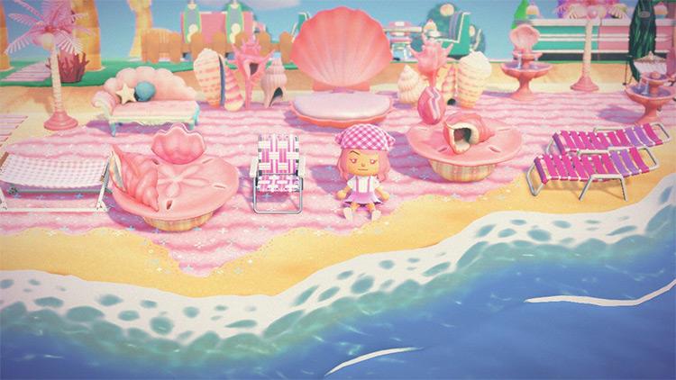 Mermaid themed beach idea - ACNH