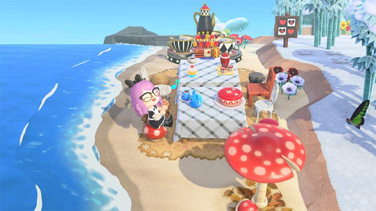 Alice in Wonderland Mad Hatter Tea Party - ACNH Idea