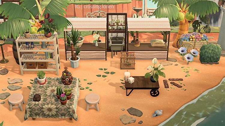 Plant Shop & Stalls On Beach - ACNH