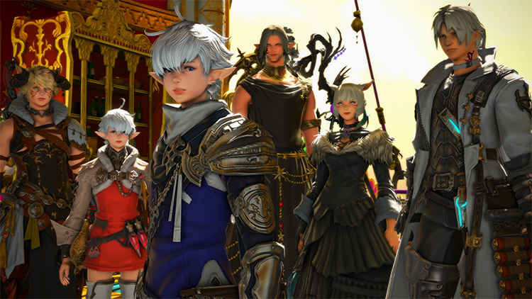 FFXIV Entire Crew Characters Screenshot