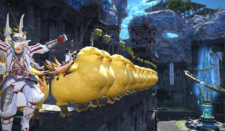 Fat Chocobo Mounts in FFXIV