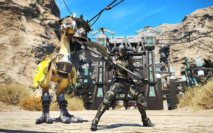 Warrior Knight Build with Chocobo in FFXIV