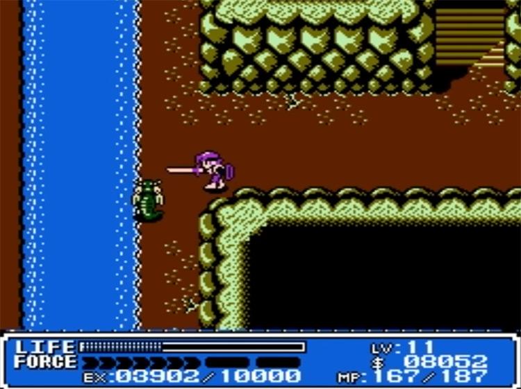 Crystalis NES gameplay screenshot