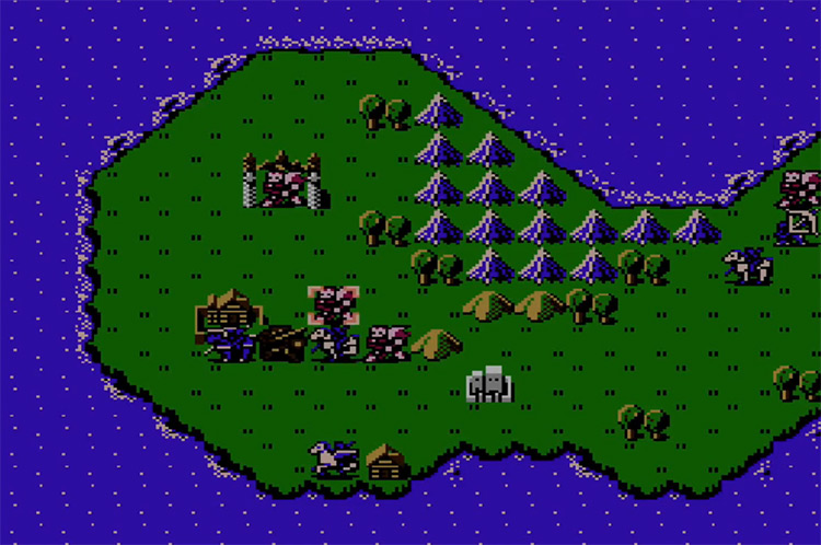 Fire Emblem: Shadow Dragon and the Blade of Light Japanese NES gameplay