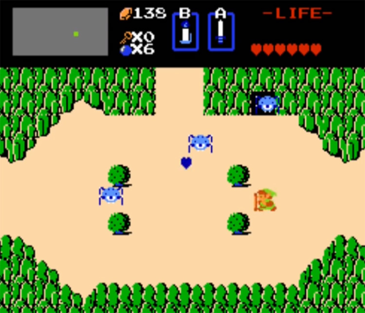 The Legend of Zelda 1 NES screenshot