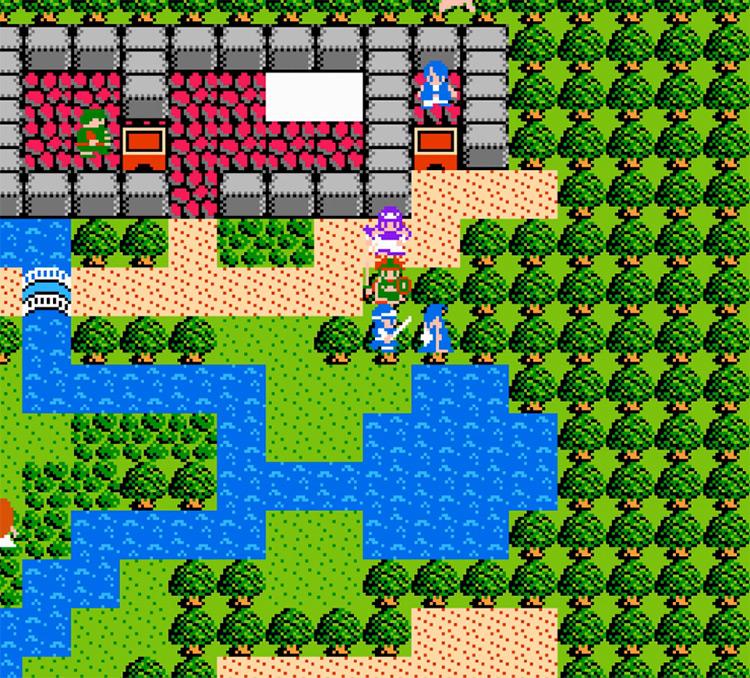 Dragon Warrior II NES gameplay