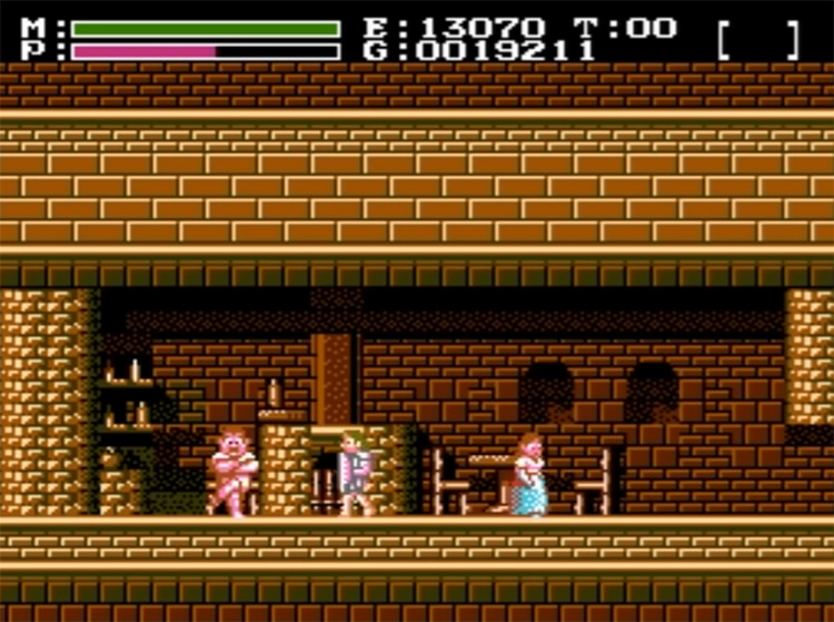 Faxanadu NES gameplay