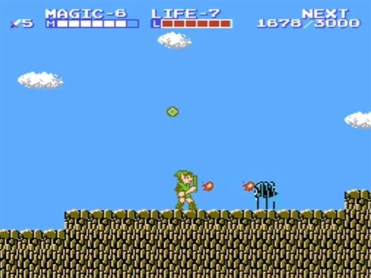 The Legend of Zelda II NES gameplay