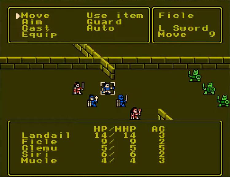 Pool of Radiance NES RPG game