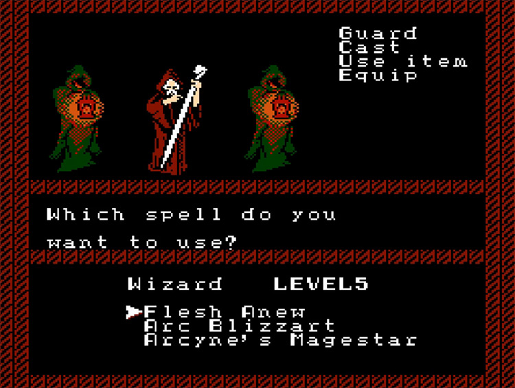 The Bard's Tale gameplay NES