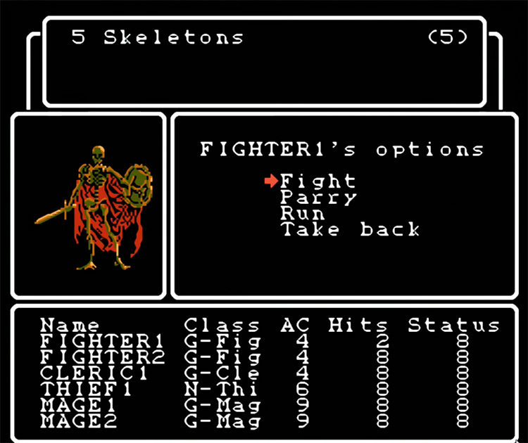 Wizardry: Proving Grounds of the Mad Overlord NES gameplay