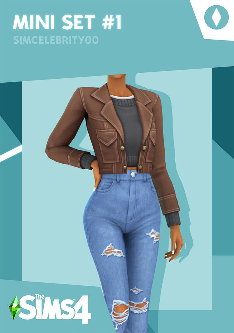Basic Mom Clothes Set MiniSet #1 - TS4