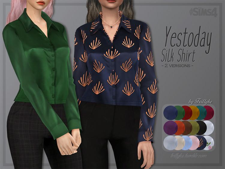 Silk Shirt For Moms - Sims 4 CC