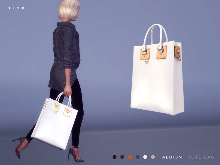 Albion Tote Bag CC for Sims 4