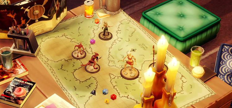 Sims 4 Dungeons & Dragons Board Mod