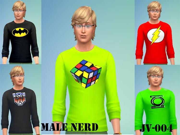 Male Nerd JV003 - Sims 4