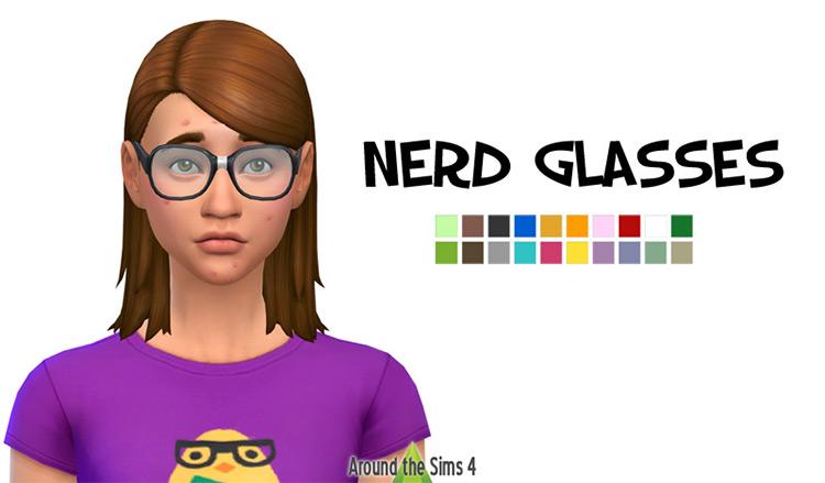Nerd Glasses by Around the Sims 4 screenshot