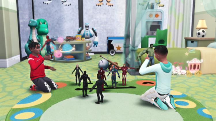 TS4 Avengers Playable Action Figures CC