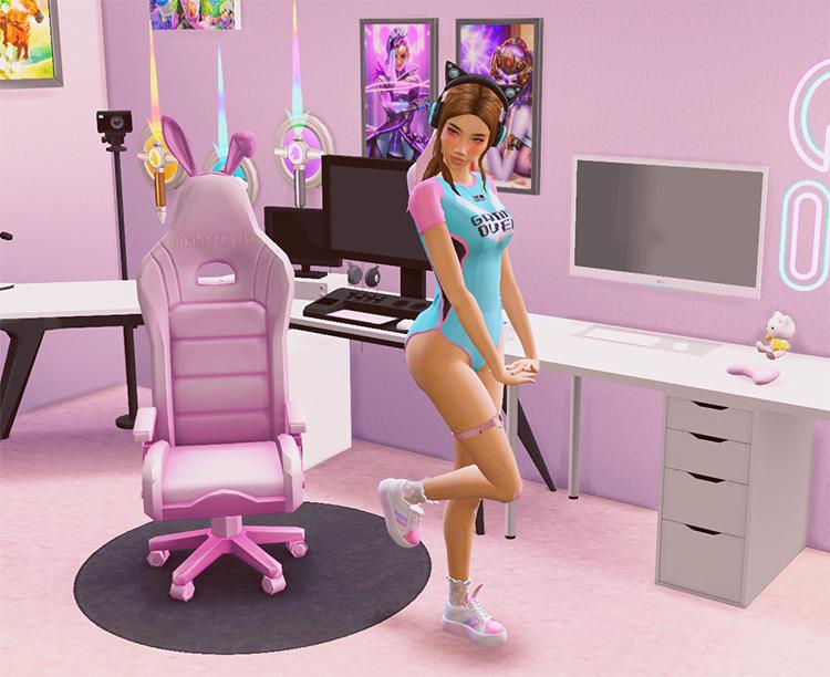 Bunny Gaming Chair - TS4 CC