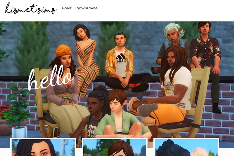Kismet Sims CC Creator Blog Screenshot