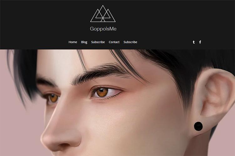 GoppolsMe CC Creator Website Screenshot