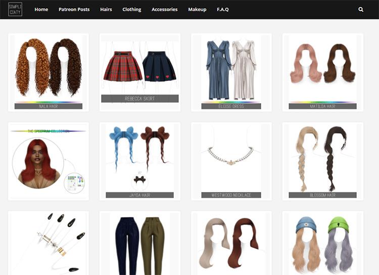 Simpliciaty CC Creator Blog Screenshot