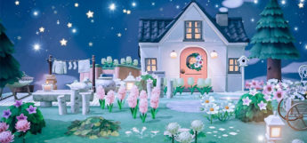 Starry Night Outside - ACNH Home Design