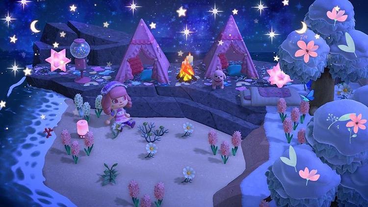 Pink Stargazing Area - ACNH Idea