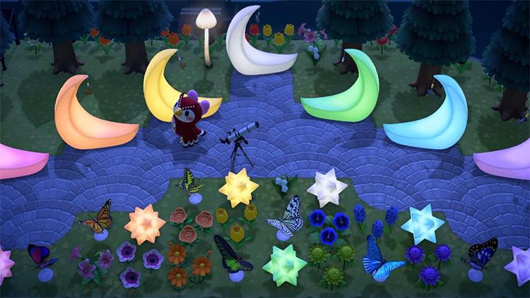 Rainbow Celestial Garden Idea - Acnh
