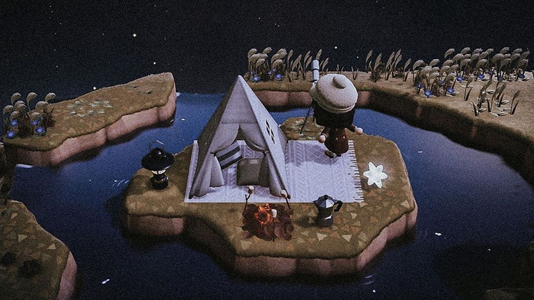 Private Stargazing Island Design - ACNH Idea
