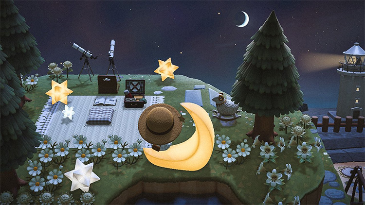 Stargazing and a Picnic - ACNH Idea